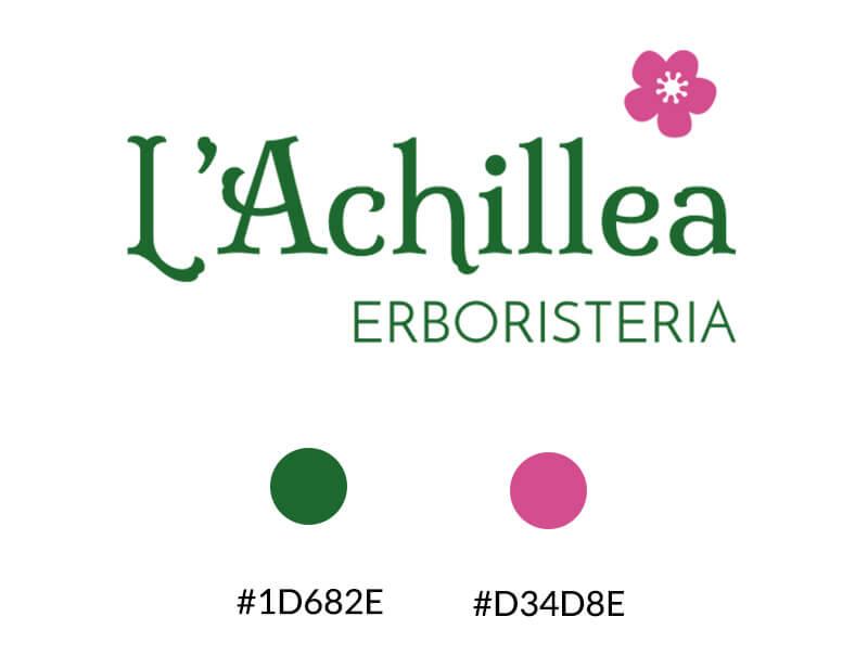 Palette colori logo L'achillea effetiwebdesign