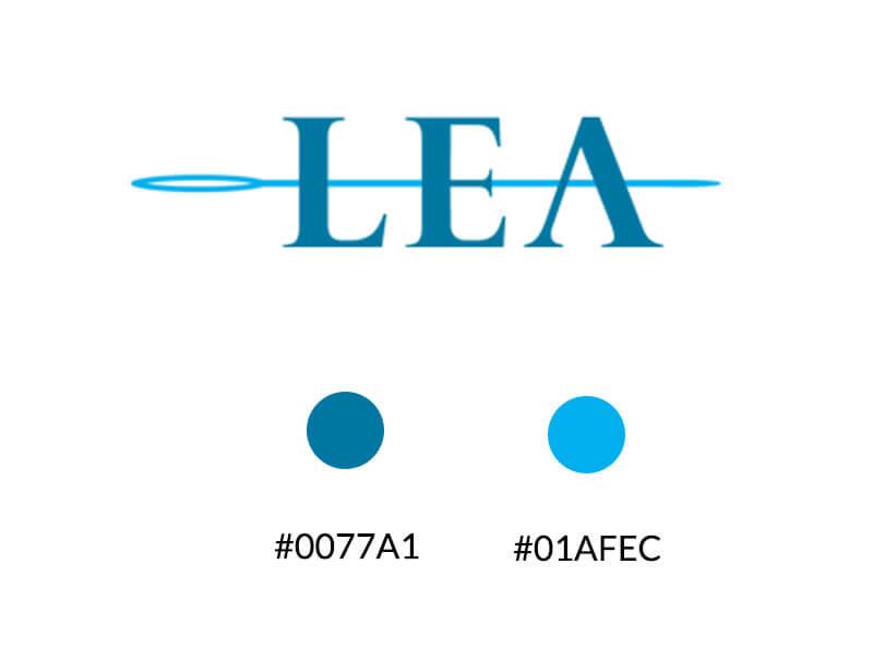 Palette colori logo Lea effetiwebdesign