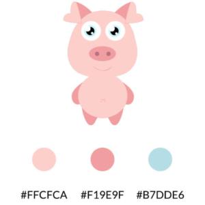 Palette colori mascotte Piggy bank